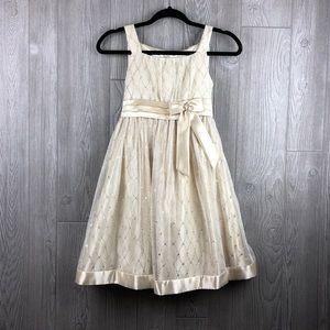 Girls Special Occasion Dress LOVE Glitter Design